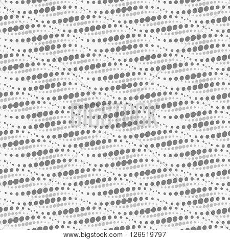 Wavy repeating dots pattern - seamless. Vector illustration.
