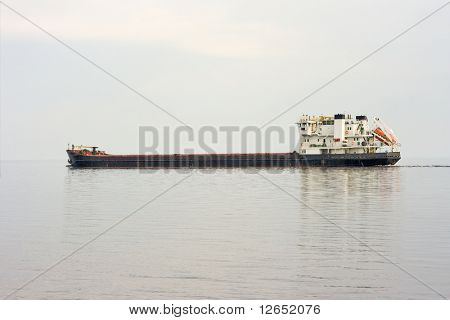 freight ship at sea