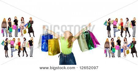 """shopping triumph - See similar images of this """"Groups of people"""" series in my portfolio"""