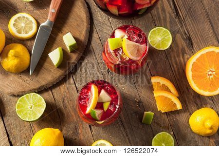 Homemade Fruity Spanish Red Sangria