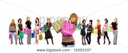 "shopping women - See similar images of this ""Groups of people"" series in my portfolio"