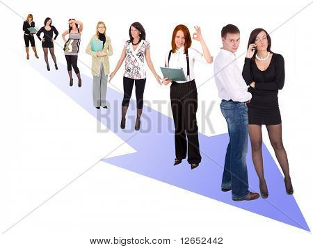 """moving the right direction  - See similar images of this """"Business People"""" series in my portfolio"""