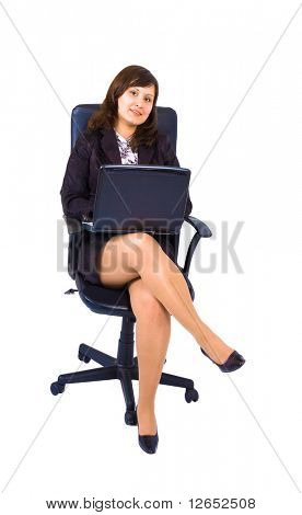 "girl with laptop  - See similar images of this ""Gorgeous business women"" series in my portfolio"