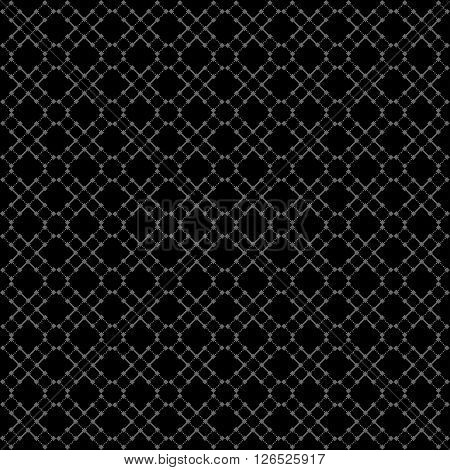 Seamless black geometric pattern. Vector background for your design.