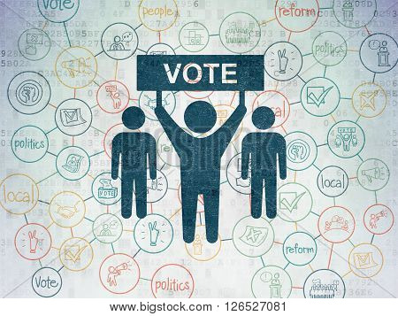 Political concept: Election Campaign on Digital Paper background