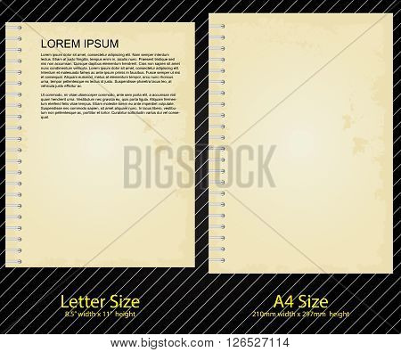 Letterhead Design of Old and Binder style, A4 and Letter size