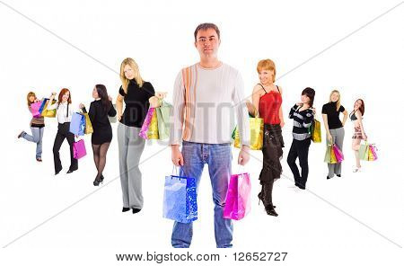 "shopping is no fun for men - See similar images of this ""Groups of people"" series in my portfolio"