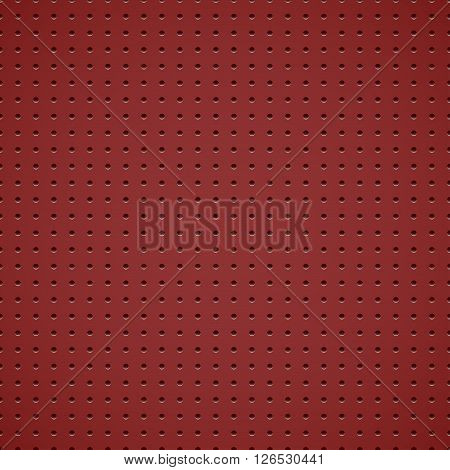 Red vector metallic background with holes - eps10.