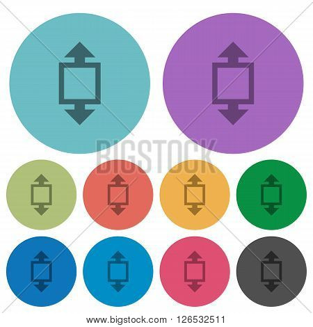 Color height tool flat icon set on round background.