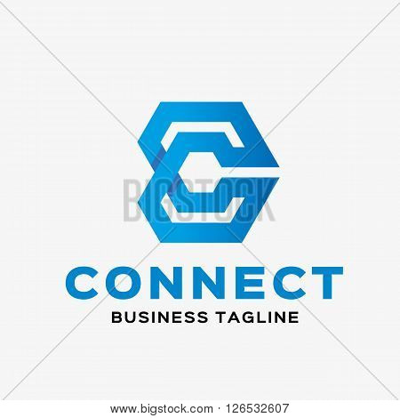Abstract letter C logo. Abstract business logo design template. Logo template editable for your business.