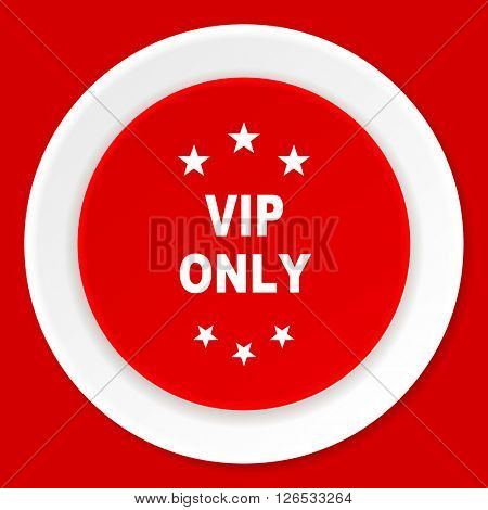 vip only red flat design modern web icon