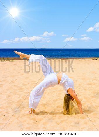 "sun, beach, exercise -  of  ""Girls on a Beach"" series in my portfolio"