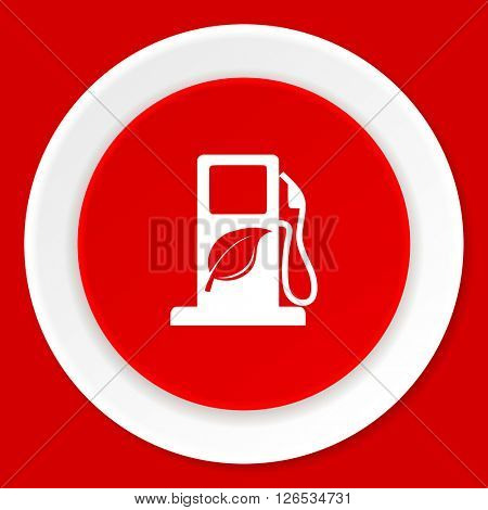 biofuel red flat design modern web icon