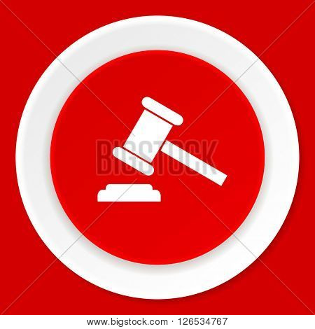 auction red flat design modern web icon