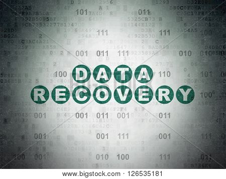 Data concept: Data Recovery on Digital Paper background