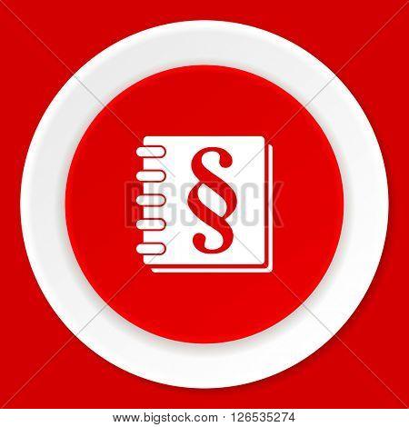 law red flat design modern web icon