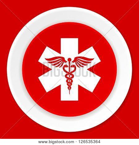 emergency red flat design modern web icon