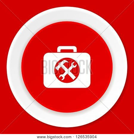 toolkit red flat design modern web icon