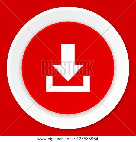 download red flat design modern web icon