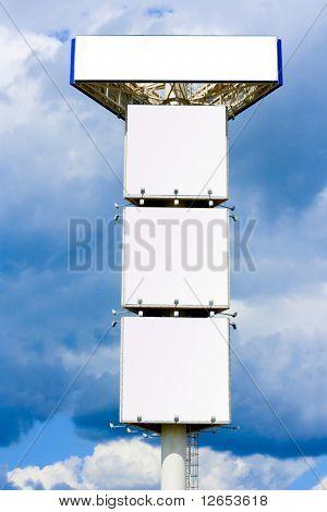 """Giant 30 meter mast for Quadruple advertisement billboard -   -  of """"Billboards"""" series in my portfolio"""