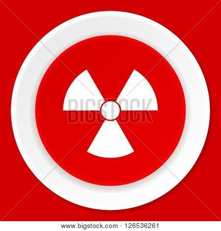 radiation red flat design modern web icon
