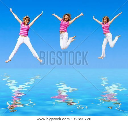 """we wanna jump higher -  of  """"Groups of people"""" series in my portfolio"""