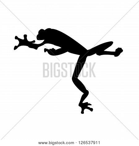 Frog Silhouette. Black tree frog vector illustration