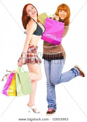 """dancing with pleasure -  of  """"Gorgeous shopping women"""" series in my portfolio"""