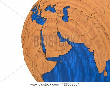 Middle East On Wooden Earth