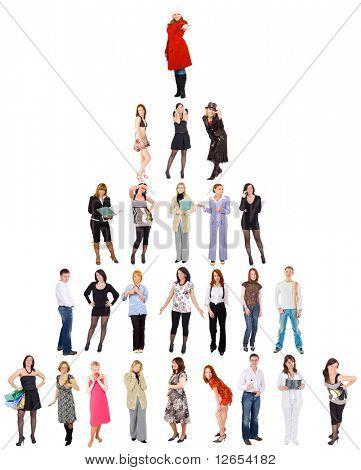 """Pirámide de 25 personas - de la serie de """"Grupos de personas"""" en mi cartera"""