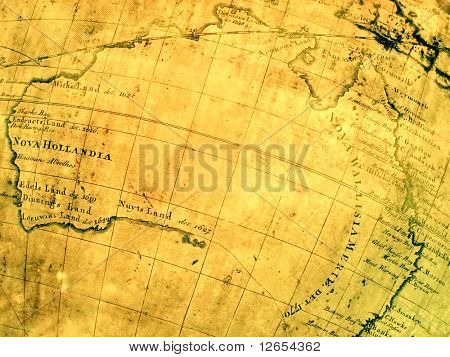 ancient map of australia