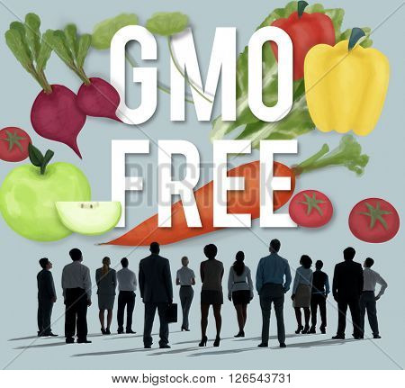 GMO Free Genetically Modified Organism Healthy Concept