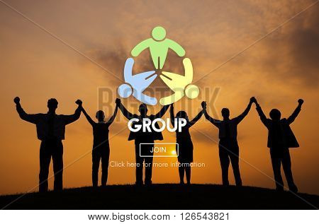 Group Community Cooperation Society Team Concept
