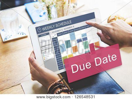Due Date Deadline Appointment Event Concept