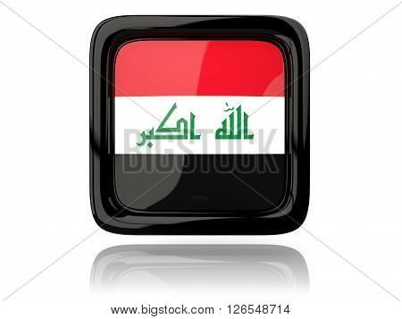 Square Icon With Flag Of Iraq