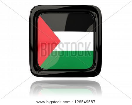 Square Icon With Flag Of Palestinian Territory