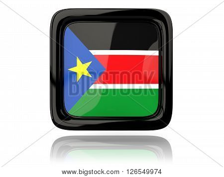 Square Icon With Flag Of South Sudan