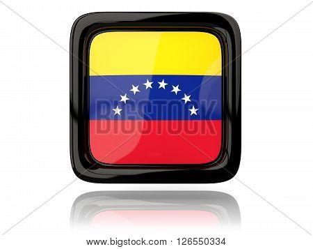 Square Icon With Flag Of Venezuela
