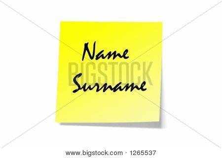 Name And Surname