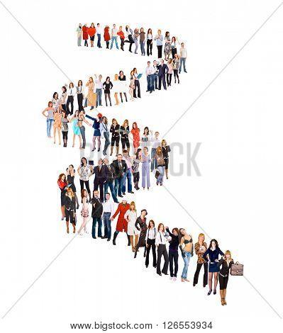 Concept Image People in Queue