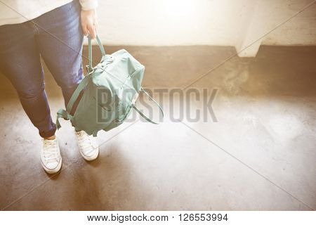 Woman Style Simplicity Backpack Concept