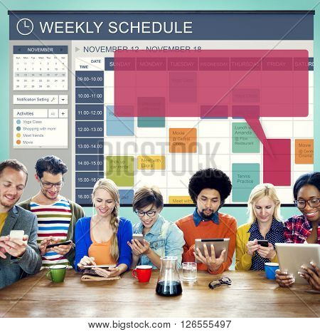 Weekly Schedule Event Appointment Organizer Concept