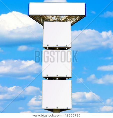 Quadruple advertisement billboard - giant 30 meter mast
