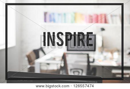 Inspire Aspiration Innovate Motivation Imagination Concept