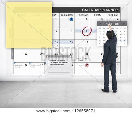 Schedule Planner Task Agenda Checklist Concept