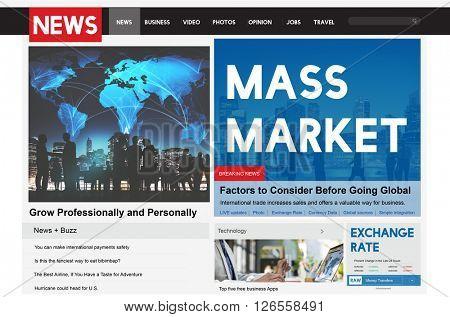Mass Market Commercial Production Business Concept