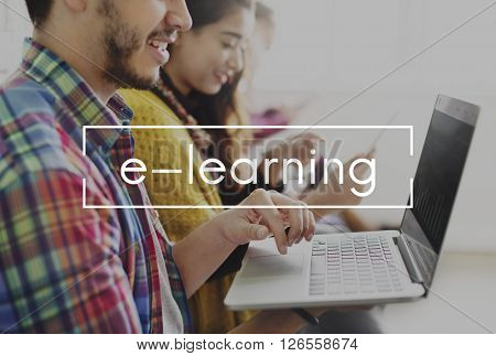 E-Learning Online Media Technology Concept