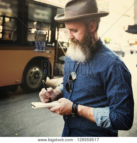 Bus Tourist Travel Wanderlust Adventure Diary Concept