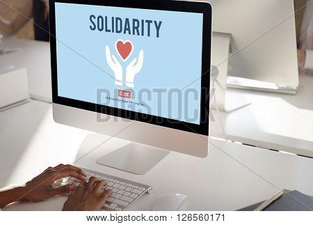 Solidarity TEam Spirit Unity Icon Concept