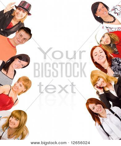 happy youth with text template